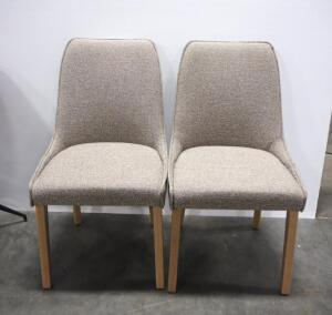 "Trica Olivia Dining Chairs, 34.75"" High x 19.25"" Wide x 23.25"" Deep, Qty 2"