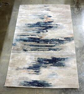 Jaipur Rug, Reynn Design, Dune And Outer Space Colors, Hand Tufted, 5' x 8'