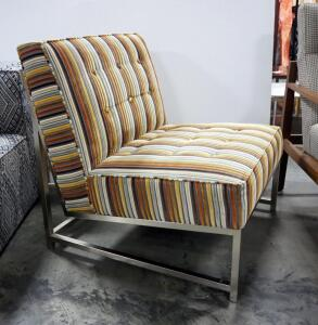 "Upholstered Chair With Metal Legs, 32.5"" High x 29"" Wide x 32"" Deep"