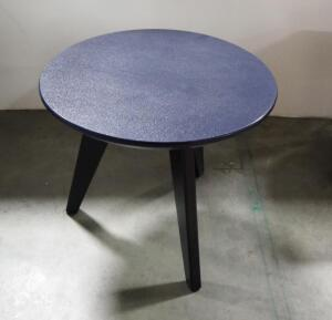 "Loll Designs Satellite End Table, Navy Blue, 16"" High x 18"" Dia"