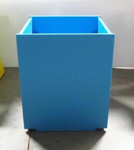 "Storage Box With False Bottom, 16.75"" High x 14"" Wide x 13.5"" Deep, False Bottom Is 9"" From The Top"