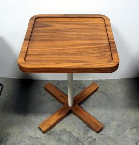"Gus Axis End Table, Walnut Finish, 21"" High x 15.75"" Wide x 15.75"" Deep"