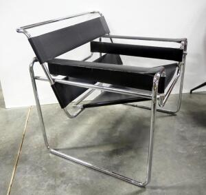 "Wassily Chair, Leather Seat, Back And Arms, 29"" High x 31"" Wide x 28"" Deep"