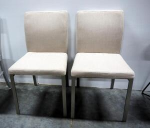 "EQ3 Frank Dining Chairs With Upholstered Seat And Back, 35"" High x 22"" Wide x 19"" Deep, Qty 2"