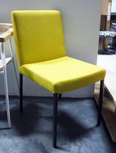 "Upholstered Chair With Metal Legs, 33"" High x 18"" Wide x 23"" Deep"