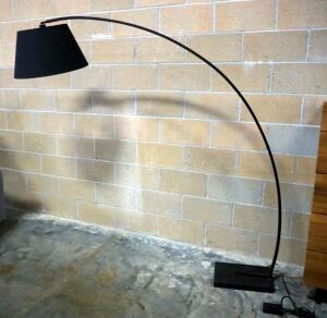 "Nuevo Evan Floor Lamp, Marble Base, In-Line Switch, 69"" High x 70"" Wide x 22"" Deep, Powers On"