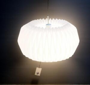 "Diamond Cloud Pendant Light, Shade Is 10"" High x Approx 17"" Dia, Hardwired"