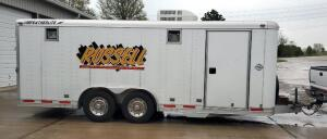 1999 8' X 20' Featherlite Enclosed Trailer, Model 1510 With  Kohler Confidant 4 Auto Start Generator And Built In Storage, VIN # 4fgl02029xc616714