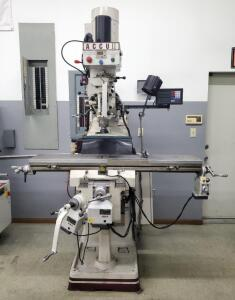 Accupath Accu II Vertical Knee Milling Machine Model # AC-3KVF, X Table Power Feed, And Newall Digital Readout, Bidder Responsible For Proper Removal