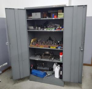 "MillWright Tooling Cabinet 6' X 36"" X 18"" Contents Includes Boring Bits, Adapters, Heads, And More"