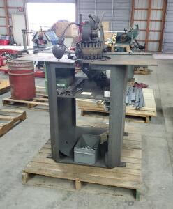 "Rotex 18 Station Manual Turret Punch Press, Model # 18B-SP 58"" X 46"" X 48"" Bidder Responsable For Proper Removal"