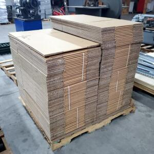 "Double Walled Corrugated Boxes 28"" X 12"" X 9"" Contents of Pallet ,Approximately 130"