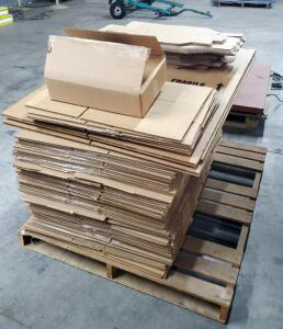 "Re-Claimed Corrugated Box Assortment Including 18"" X 18"" X 28"", 17"" X 12"" X 4"" Contents of 1 Pallet,"