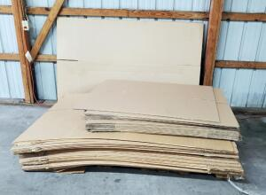 "Corrugated Box Assortment, New Stock, 20"" X 20"" X 30"" And 26.5"" X 21.25"" X 52"" Contents OF Pallet"
