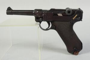 Erfurt Luger 9mm Pistol SN# 2101, With Walnut Checkered Grip