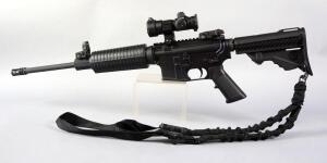 DPMS Panther Arms A-15 5.56 NATO 1/9 Rifle SN# FFA027242, Adjustable Stock, Vented Muzzle, Bushnell Sight, Shoulder Strap, No Mag