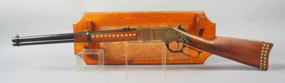 Navy Arms Model 1866 44-40 Cal Lever Action Rifle SN# 35253, Little Big Horn Centennial Commemorative #1391/1500, With Display Rack, Italian Made Working Firearm