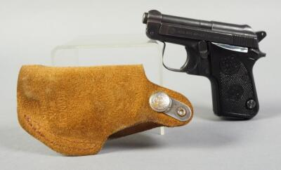 Beretta Model 950 BS .25 Cal Pistol SN# BU27264V, In Bianchi Suede Holster
