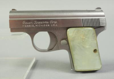 Bauer Firearms Corp. .25 Cal Pistol SN# 65965, With Pearl Handle