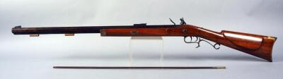 Believed To Be Thompson Center Arms .32 Cal Flintlock Black Powder Rifle SN# Not Found, With Double Trigger And Octagonal Barrel