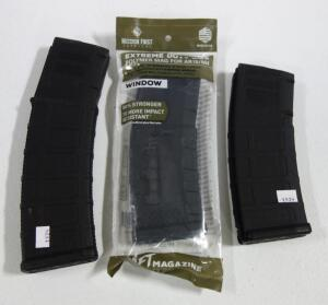 Three 5.56x45 Mags, Includes 30 Round Mags Qty 2 (1 NIB) And 40 Round Mag Qty 1