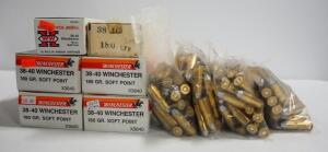38-40 Ammo, Includes Winchester 180 gr Soft Point Approx 250 Rounds, 170 gr LFP Approx 195 Rounds, And 180 gr LFP Approx 50 Rounds, Local Pickup Only