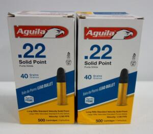 Aguila .22 Solid Point 40 gr Ammo, Approx 1000 Rounds, Local Pickup Only