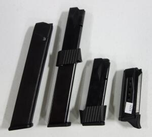 9mm Mags, Qty 4, Includes 2 Extended Mags, Brands Include Pro Mag And Ruger