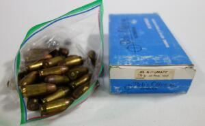 .45 Auto Ammo, Includes Bob's Office 230 gr FMJ And Unmarked, Approx 75 Total Rds, Local Pickup Only