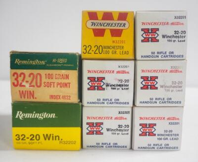 Winchester 32-20 WIN 100 gr Lead Ammo, Approx 300 Rounds, And Remington 32-20 WIN 100 gr Soft Point, Approx 100 Rounds, Local Pickup Only
