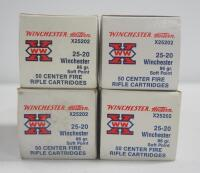 Winchester 25-20 86 gr Soft Point Ammo, Approx 200 Rounds, Local Pickup Only