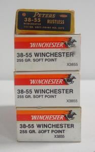 38-55 Winchester 255 gr Soft Point Ammo, Approx 80 Rounds, Local Pickup Only