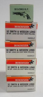 Winchester .32 S&W Long 98 gr Lead (32 Colt New Police) Ammo Approx 200 Rds And Navy Arms .32 Long Rim Fire Approx 50 Rds, Local Pickup Only