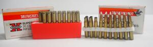 Winchester 30-06 SPRG Ammo, Includes 150 gr Silvertip 14 Rds, 180 gr Silvertip 17 Rds, And Empty Brass, Local Pickup Only