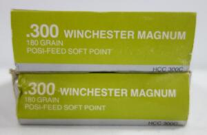 Hansen .300 Winchester Magnum 180 gr Posi-Feed Soft Point Ammo, Approx 40 Rounds, Local Pickup Only