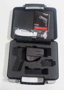 Sig Sauer Holster, Hard Case, And Manual For Sig Sauer P250 Sub-Compact, No Firearm Included