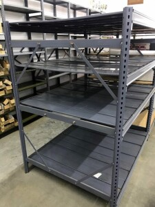 Edsal 6' Steel Shelving Unit, Contents Of 4 Pallets, Includes 11 Uprights