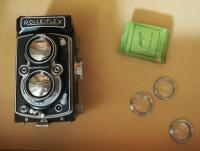 Vintage Franke & Heideck Rolleiflex Camera With Heliopan Camera Lenses