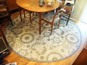 "Sculpted Round Area Rug, 94"" Round"