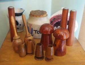 Salt & Pepper Shakers, Tooth Pick Holders, Stoneware Jar Pitcher And More