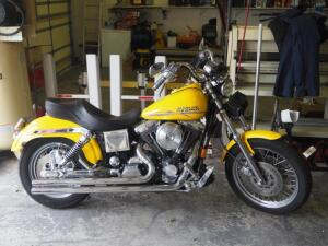 1997 Harley-Davidson FXDS Conv Motorcycle, VIN # 1HD1GGL14VY316022, 5,981 Miles Showing On Odometer, Click For More Details