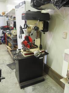 "JET Milling/Drilling Machine, Model JMD-15; Includes Stand, And Table Attachments, 64"" x 36"" x 24"""