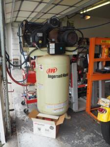 Ingersoll-Rand Type 30 80 Gallon Air Compressor, Model 2475N7, Max Pressure 175 PSI, 230 V, 7.5 HP Engine, Includes Air Pressure Filter System And...