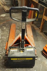 Battery Powered Hydraulic Pallet Jack, 2200 LB Capacity