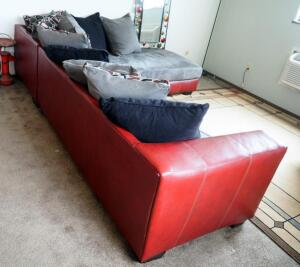 "Contemporary 2 Piece Sectional Group, 10' x 7.5', L-Shaped And Includes 20"" x 20"" Designer Pillows Qty 10"