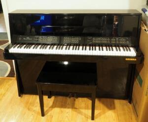 "Kurzweil Ensemble Grande Digital Piano, Model 10003801, Spatial Perspective Sound System & Built In Multi Track Digital Recorder, 41.5"" x 54"" x 20"""