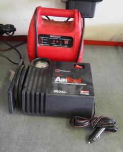 Power Now Automotive Jump Starter And InterDynamics 12 V High Performance Air Compressor