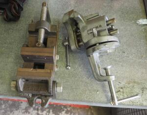 Brink And Cotton 3 Inch Bench Vise, Model 153, And 2.5 Inch Bench Vise