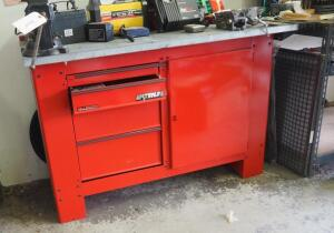 "Waterloo 4 Drawer Tool/Workbench, 37"" x 61"" x 24"", Contents Not Included, SECOND DAY LOADOUT ONLY"