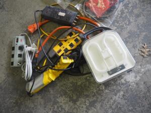 Shop Lights, Surge Protectors, And Cord Adapters, Contents Of Box
